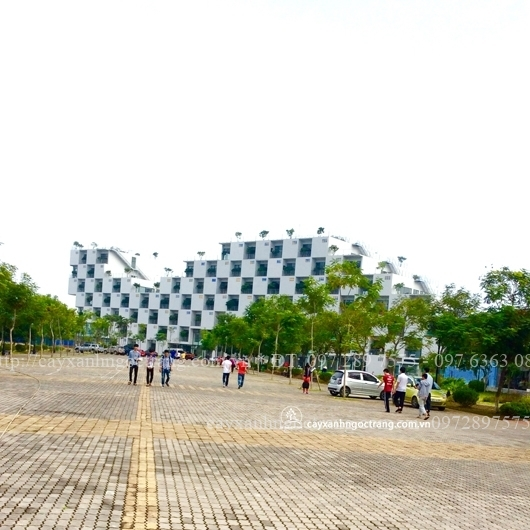 Trường Đại học FPT  (Khu tòa nhà trung tâm nhìn từ phía sân trong)