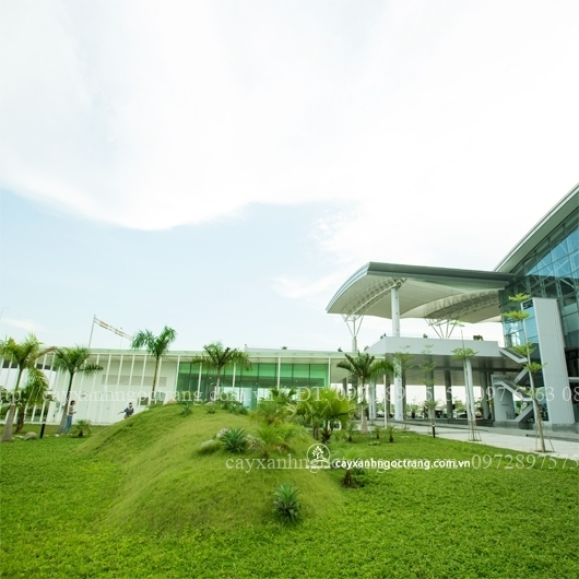 Cảnh quan nhà ga T2 sân bay Quốc tế  Nội bài (sau 01 năm hoan thành)